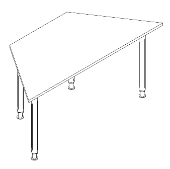 Adjustable trapezoid desk