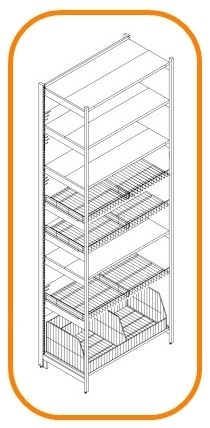 STORE SHOP UNIVERSAL SHELVING SYSTEMS